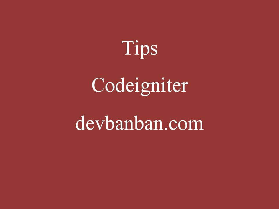 Codeigniter : Login, Check Login, Logout Function