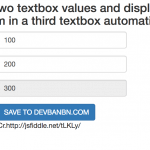 Free Template 26 : Add two textbox values and display the sum in a third textbox automatically.