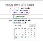 PHP :  FIX DATE OPEN & CLOSE SYSTEM. ตย.  code กำหนดเปิด-ปิดระบบ php
